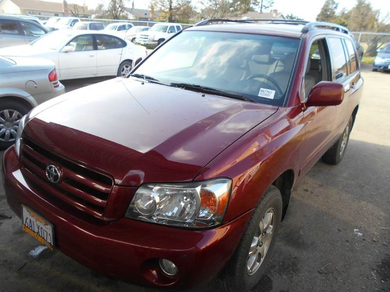 2007 TOYOTA HIGHLANDER BASE 4DR SUV I4 red 2-stage unlocking doors abs - 4-wheel active head re