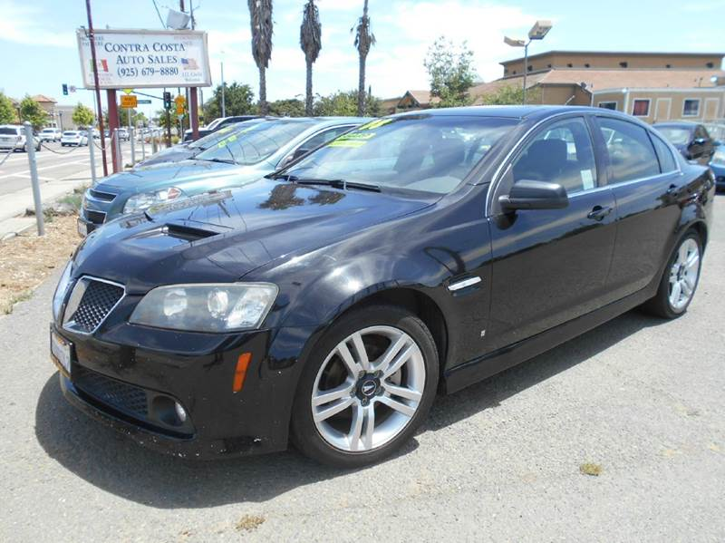 2008 PONTIAC G8 BASE 4DR SEDAN black abs - 4-wheel airbag deactivation - occupant sensing passen