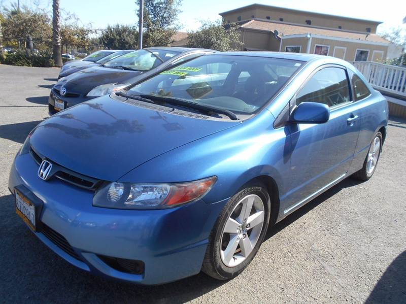 2007 HONDA CIVIC EX 2DR COUPE 18L I4 5A blue 2-stage unlocking doors abs - 4-wheel air filtr