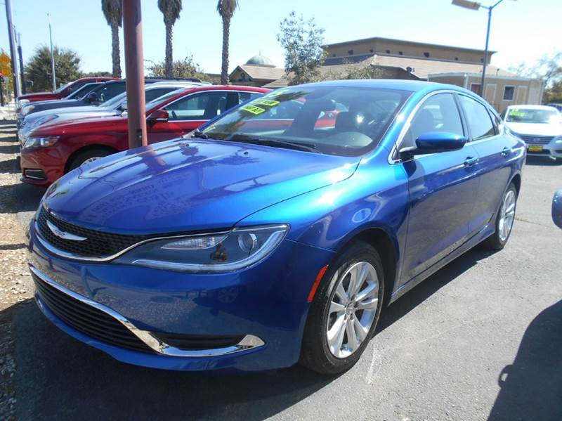 2015 CHRYSLER 200 LIMITED 4DR SEDAN blue abs - 4-wheel active grille shutters air filtration ai