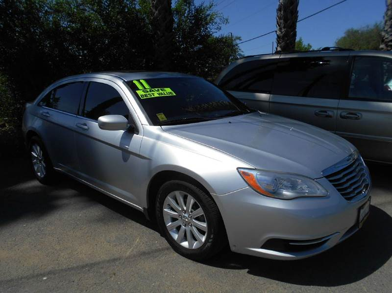 2011 CHRYSLER 200 TOURING 4DR SEDAN silver 2-stage unlocking doors abs - 4-wheel active head res
