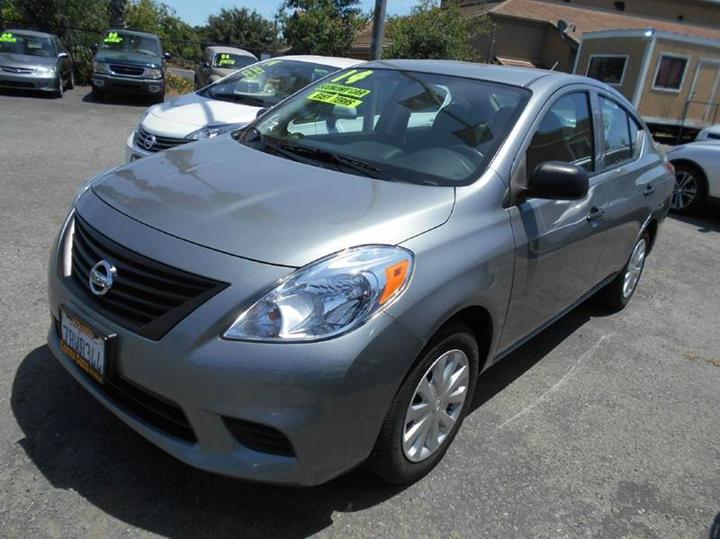 2014 NISSAN VERSA 16 S 4DR SEDAN 4A charcoal abs - 4-wheel active head restraints - dual front