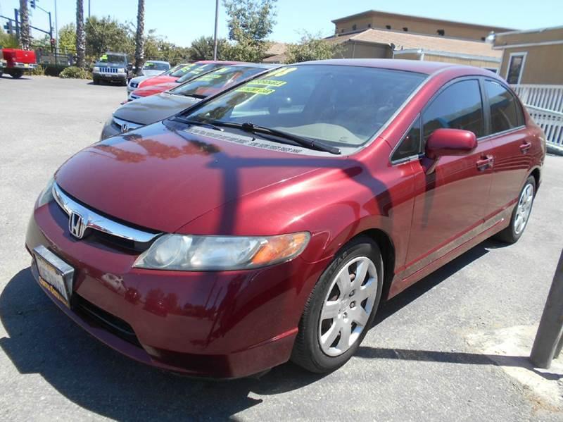 2008 HONDA CIVIC LX 4DR SEDAN 5A red abs - 4-wheel air filtration airbag deactivation - occupan