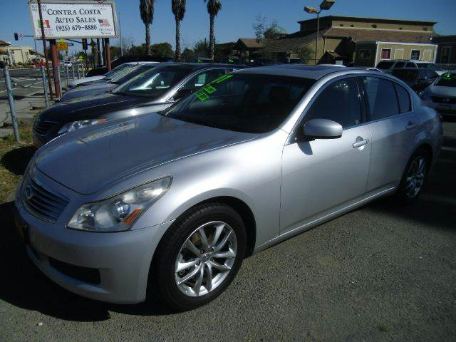 2007 INFINITI G35 SPORT 4DR SEDAN 35L V6 5A silver 2-stage unlocking - remote abs - 4-wheel