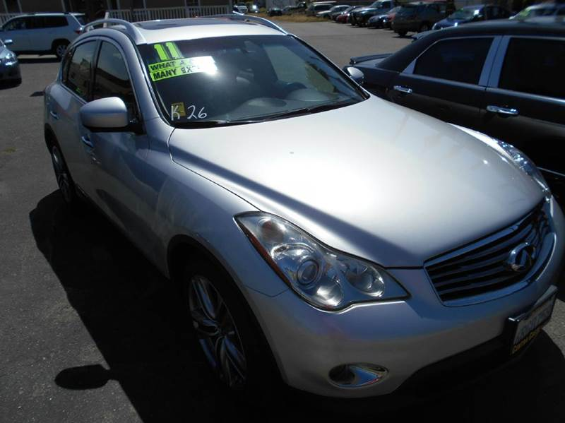 2011 INFINITI EX35 BASE 4DR CROSSOVER silver 2-stage unlocking doors abs - 4-wheel active head r
