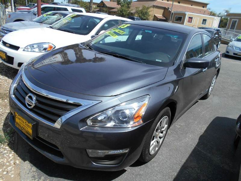 2013 NISSAN ALTIMA 25 S 4DR SEDAN charcoal 2-stage unlocking abs - 4-wheel active head restrai