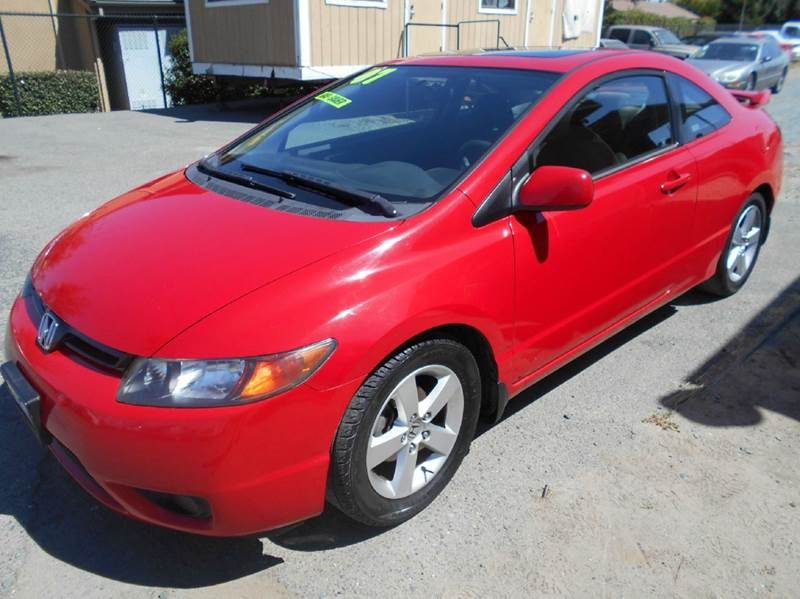 2007 HONDA CIVIC EX 2DR COUPE 18L I4 5M red 2-stage unlocking - remote abs - 4-wheel air fil