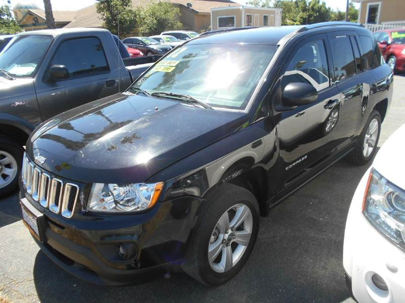 2012 JEEP COMPASS SPORT 4DR SUV black abs - 4-wheel active head restraints - dual front air fil