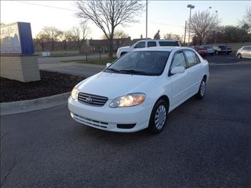 2003 Toyota Corolla for sale in Plymouth, MI