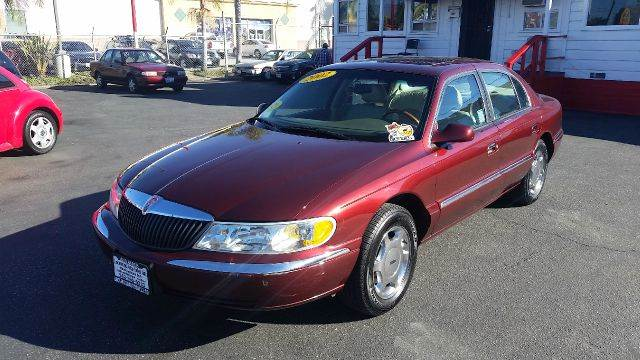 2002 LINCOLN CONTINENTAL BASE 4DR SEDAN burgundy this handsome 2002 lincoln ls is in fantastic co