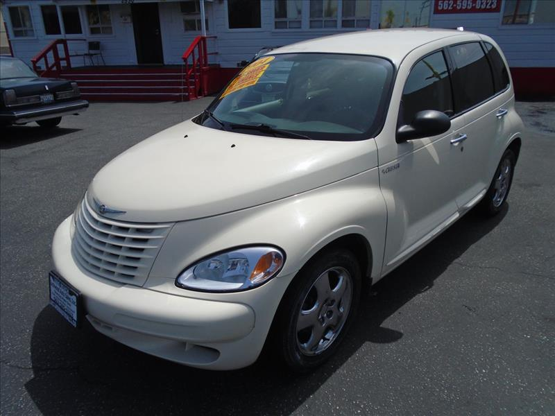 2004 CHRYSLER PT CRUISER BASE 4DR WAGON white this snow white 2004 chrysler pt- cruiser is loaded