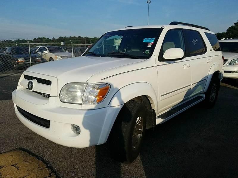 2007 TOYOTA SEQUOIA SR5 4DR SUV white 2-stage unlocking doors abs - 4-wheel antenna type - elem