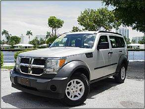 2008 DODGE NITRO SXT 4DR SUV 4WD silver 2-stage unlocking doors 4wd selector - electronic hi-lo