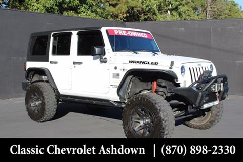 2012 Jeep Wrangler Unlimited for sale in Ashdown, AR