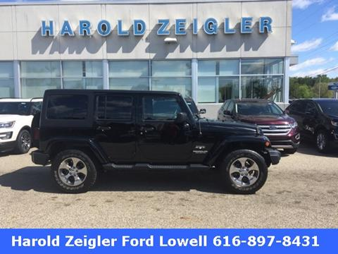 2016 Jeep Wrangler Unlimited for sale in Lowell MI