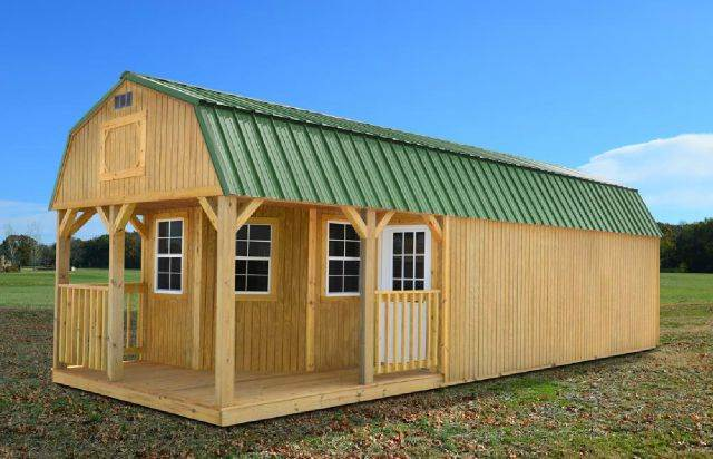 Portable Buildings In Louisiana : Deluxe lofted barn cabin rent two own