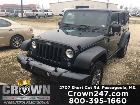 2016 Jeep Wrangler Unlimited for sale in Pascagoula, MS
