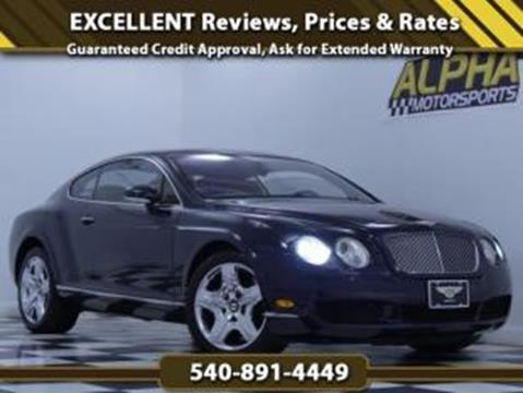 2005 Bentley Continental GT for sale in Fredericksburg, VA
