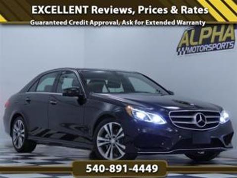 2016 Mercedes Benz E Class For Sale In Fredericksburg, VA
