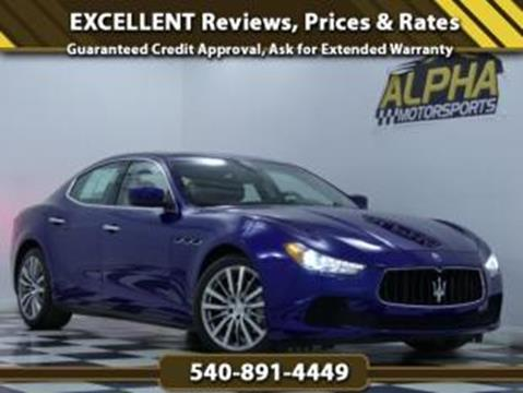 2016 Maserati Ghibli for sale in Fredericksburg, VA