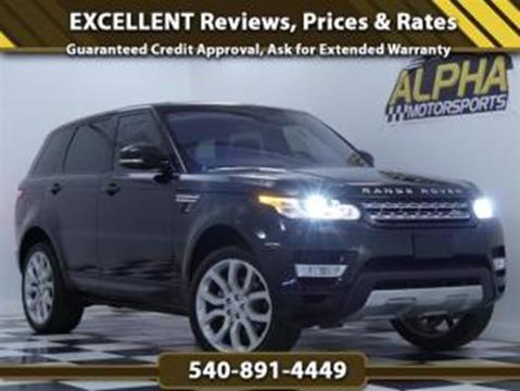 2016 Land Rover Range Rover Sport for sale in Fredericksburg, VA