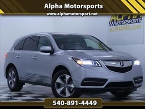 2016 Acura MDX for sale in Fredericksburg, VA