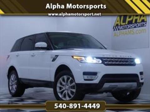 2015 Land Rover Range Rover Sport for sale in Fredericksburg, VA