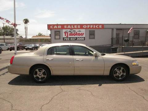 2005 lincoln town car for sale las vegas nv. Black Bedroom Furniture Sets. Home Design Ideas
