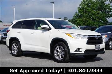 2014 Toyota Highlander for sale in Gaithersburg, MD