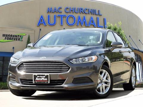 2016 Ford Fusion for sale in Bedford, TX