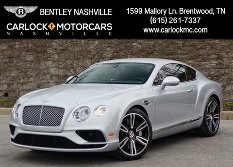 2017 Bentley Continental GT V8 for sale in Franklin, TN