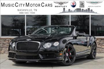 2015 Bentley Continental GTC V8 S for sale in Franklin, TN