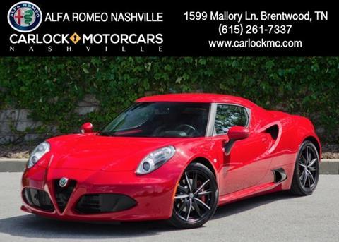 2017 Alfa Romeo 4C for sale in Franklin, TN