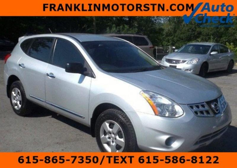 Used 2012 nissan rogue for sale in tennessee for Franklin motor company nashville tn