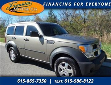 Dodge nitro for sale tennessee for Franklin motor company nashville tn