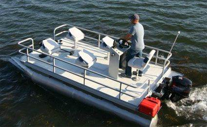 Used 2014 rc 16 ft pontoon fishing boat for sale for Rc fishing boats for sale