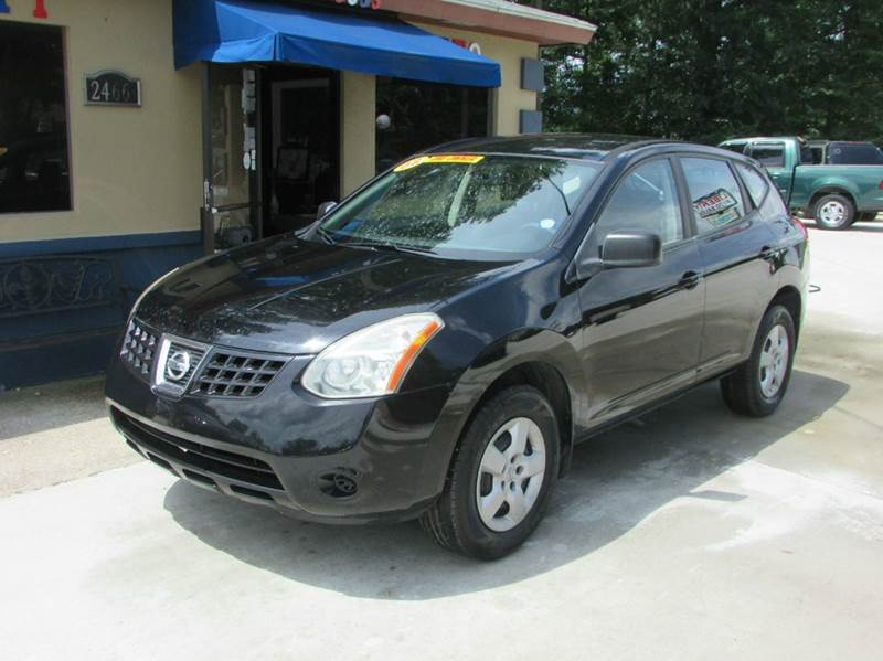 2008 NISSAN ROGUE S CROSSOVER 4DR black one owner abs - 4-wheel active head restraints - dual