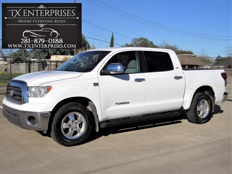 2007 toyota tundra sr5 4dr crewmax cab sb 4 7l v8 in houston tx tx enterprises. Black Bedroom Furniture Sets. Home Design Ideas