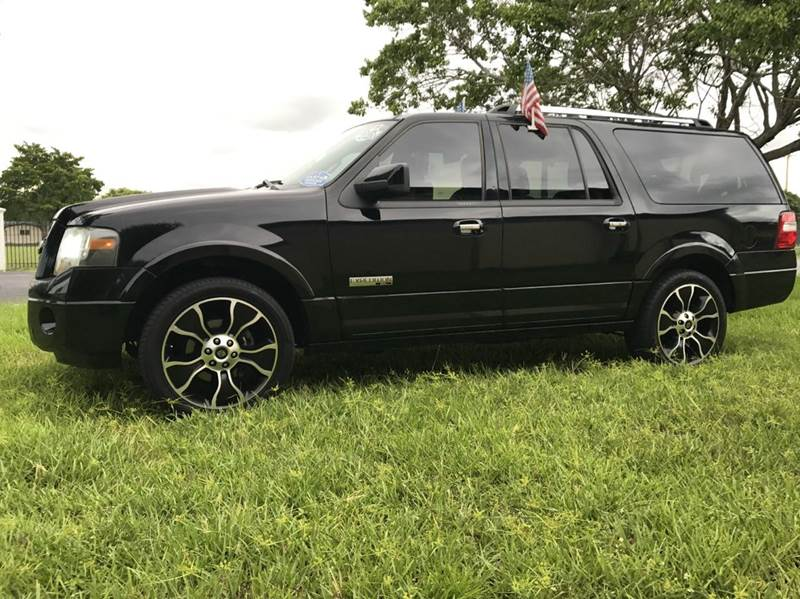 2008 FORD EXPEDITION LIMITED 4X4 4DR SUV black 2008 ford expedition el limited navi harley davidso
