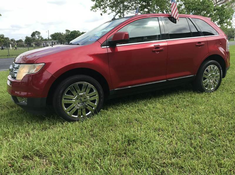 2010 FORD EDGE LIMITED AWD 4DR CROSSOVER red 2010ford edge limited  4dr crossover sport this vehi