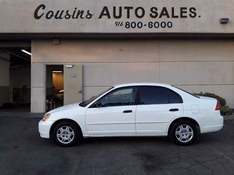 2001 Honda Civic for sale in Sacramento, CA