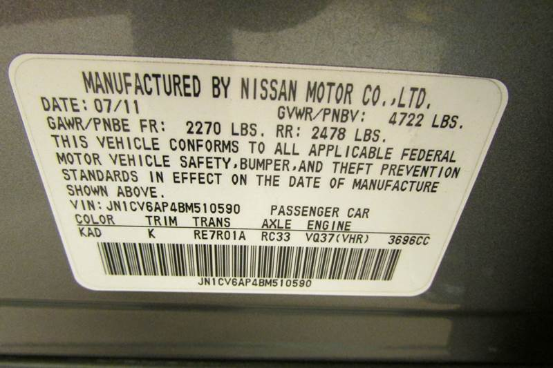 2011 Infiniti G37 Sedan Sport 4dr Sedan - Union GA