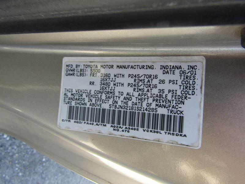 2001 Toyota Tundra Base 2dr Standard Cab 2WD LB - Hernando FL