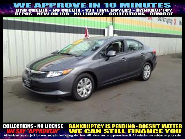 2012 HONDA CIVIC LX 4DR SEDAN 5A charcoal  welcome take a test drive or call us if you have an