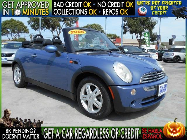 2005 MINI COOPER BASE 2DR CONVERTIBLE blue  welcome take a test drive or call us if you have a