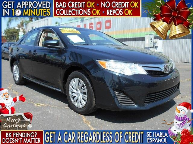 2012 TOYOTA CAMRY black  welcome take a test drive or call us if you have any questions you