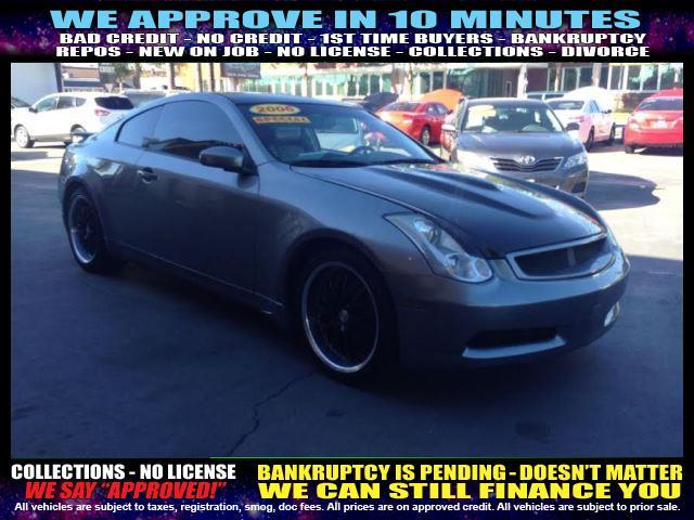 2006 INFINITI G35 BASE 2DR COUPE 35L V6 5A charcoal welcome take a test drive or call us if