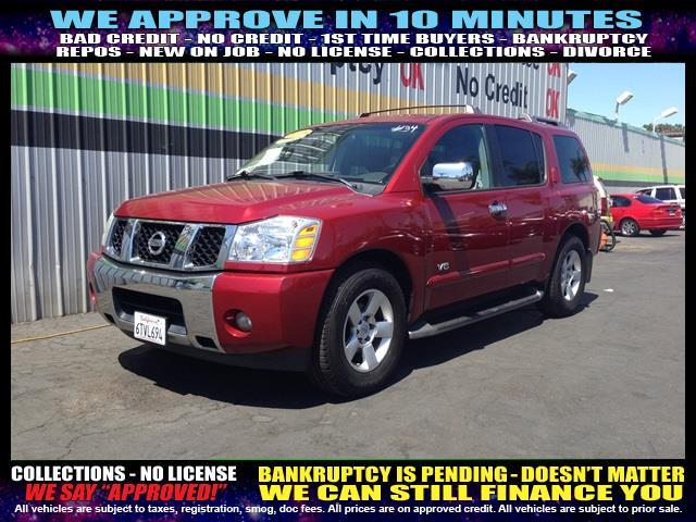2005 NISSAN ARMADA red welcome take a test drive or call us if you have any questions you won