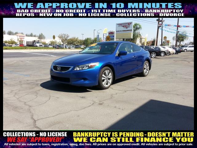 2008 HONDA ACCORD EX COUPE blue  welcome take a test drive or call us if you have any question