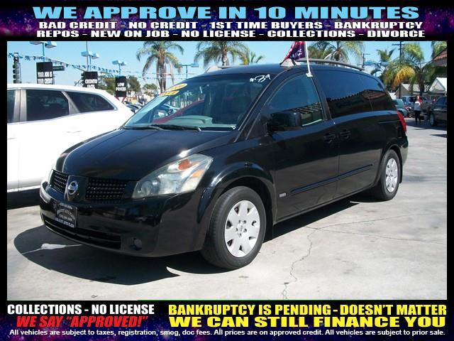 2006 NISSAN QUEST black  welcome take a test drive or call us if you have any questions you